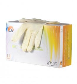 Перчатки латексные 7031 нестерильные, опудренные, гладкие (100 шт/уп) (S)