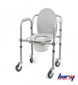 Кресло-туалет 10581Ca на колесах, складной