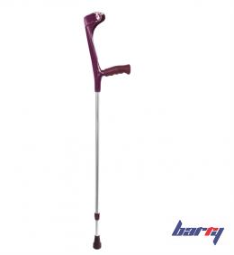 Костыль локтевой Ergo-Softgrip 222KL-Standart (Цвет ручки: Малиновый, Цвет трубы: Серый)