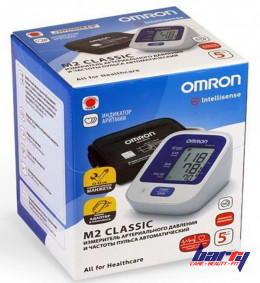 Тонометр Omron M2 Classic с адаптером и с адаптером и универсальным манжетом (22-42 см)