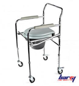 Кресло-стул WC Mobail с санитарным оснащением, с колесами