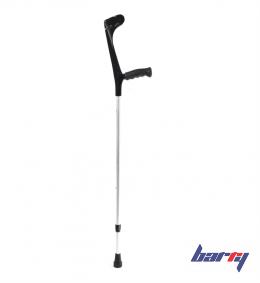 Костыль локтевой Ergo-Softgrip 222KL-Standart (Цвет ручки: Черный, Цвет трубы: Серый)
